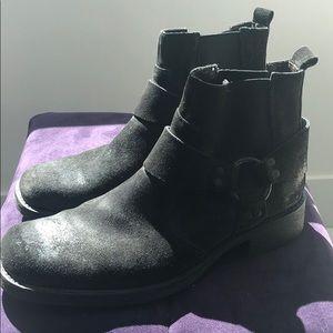 Alfani 9.5 black suede low boots
